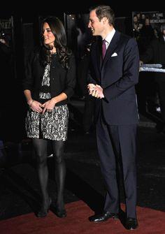 Kate & William - Zara Black & Beige Lace Dress - London's Royal Albert Hall - 6 Dec 2011