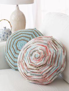 Zen Pillows - Free Pattern @ Yarnspirations