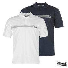 Lonsdale London Polo Polohemd Poloshirt Dunkelblau, Weiß neustes Modell