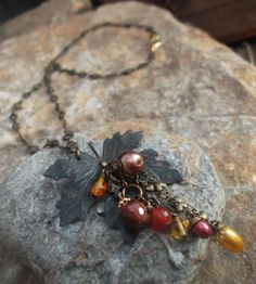 Autumn/Fall Leaf necklace by LGJewellery on Etsy