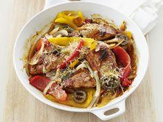 Skillet Pork and Peppers Recipe : Food Network Kitchens : Food Network - FoodNetwork.com