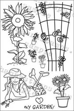 Hanna Stamps clear stamps I Love my Garden