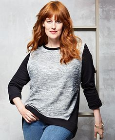 Redhead bombshell sweater girl — photo 3