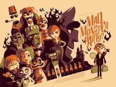Mad Monster Party by Tom Whalen – Mondo
