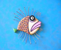 Golden Flounder Original Found Object Wall by FigJamStudio on Etsy