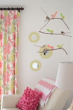 DIY Bird and Branch Mobile - #nursery #mobile