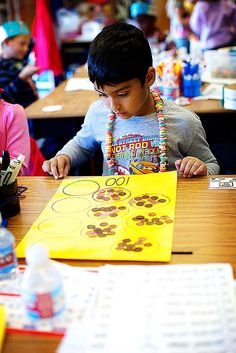 grouping - I like that math mat he is using