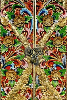 Amazing colorful and very ornate doors!  CLOSED DOORS  © Twixx | Dreamstime.com