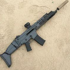 Sci Fi Weapons, Weapons Guns, Airsoft Guns, Guns And Ammo, Assault Weapon, Assault Rifle, Indoor Shooting Range, Fire Powers, Hunting Guns