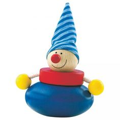 Olli Cluthing Baby Toy - what a cute wobbly clown! #oompatoys #habausa