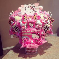 Hello kitty candy bouquet
