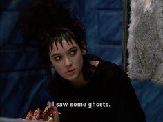 Iconic adolescent goth hero: Lydia Deetz (Winona Ryder) from Beetlejuice