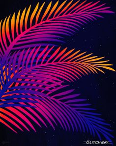 """The Glitchway — """"Neon Leaves""""    Prints available at: Society6   ..."""