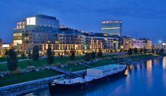 Eurovea International Trade Center, Residential, Riverfront, Bratislava-Slovakia. International Trade Center, Bratislava Slovakia, Public Administration, Public Square, Central And Eastern Europe, Art Area, National Theatre, Public Art, City