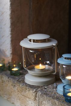 Whether lighting a walkway outdoors or hanging indoors, MÖRKT tea light lanterns add a sweetly rustic touch.