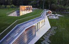 Pool Pavilion in Adirondack Mountains, NY by Peter Gluck and Partners Architects
