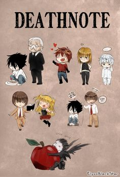 DEATHNOTE chibi by ElyonBlackStar on DeviantArt. OH MY LOWD LOOK AT RYKU