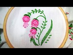 Hand Embroidery stitches Tutorial. Tiny design for frocks, blouses , cushion covers etc,. - YouTube