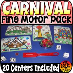 Lodrew's Hands-On Learning Teaching Resources Carnival Activities, Carnival Themes, Motor Activities, Preschool Activities, Bingo Dabber, Game Booth, Circus Crafts, Lacing Cards, Plastic Letters