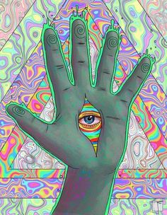 eye, psychedelic, and trippy image