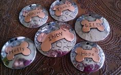 Custom Dog ID Tag Domed Bone Design Your by IslandTopCustomTags, $24.00