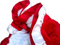 Christmas Blanket Red and White Minky Blanket with by babyboos, $60.00