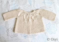 Baby Knitting Patterns Sweaters Picture from Ravelry, Organic Leaf Cardigan by Jeannine LaRoche Cardigan Bebe, Cardigan Pattern, Baby Cardigan, Crochet Cardigan, Knit Crochet, Knit Lace, Baby Knitting Patterns, Knitting For Kids, Baby Patterns
