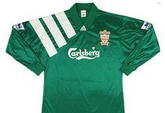 994d718ec Adidas 1992-93 Liverpool Centenary Player Issue Away Shirt Vintage Football  Shirts