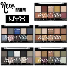 Nyx Perfect Filter Eyeshadow Palettes Spring 2016