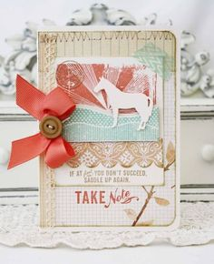Encouragement Card by Melissa Phillips for Papertrey Ink (May 2012)
