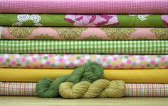 Another great group of fabrics and yarns from Bobbin's Nest