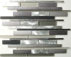 Unicorn  Stainless Steel Series, Random Bricks, Midnight, Frosted & Brushed, Grey, Glass and Metal