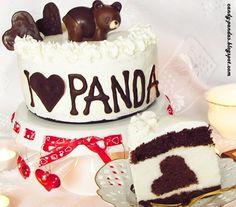 Candy Pandas: Tort Walentynkowy dla PANDY! (bez glutenu, cukru białego, laktozy)