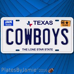 Dallas Cowboys NFL Football Team TX 1996 Prop Replica Aluminum License Plate Texas Cowboys, Dallas Cowboys, Family Chiropractic, Nfl Football Teams, Licence Plates, Wallpapers, Ebay, Vehicles, Dallas Cowboys Football
