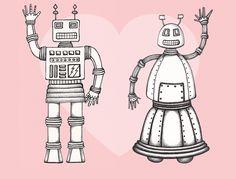 Bertha and Bernard Bot say Happy Valentine's Day