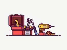 Toolbox Icon by Mustafa Kural #Design Popular #Dribbble #shots