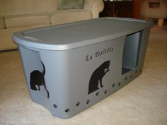 Attrayant Making A Litter Box Cover | Animalu0027s | Pinterest | Storage Room, Litter Box  And Storage Containers