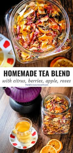 Rose and Dried Fruit Homemade Tea Homemade tea blend with citrus, berries, apples, roses and white tea is an invigorating infusion of sweet fruit flavors [. Low Carb Diets, Fruit Tea Recipes, Herbal Tea Benefits, Herbal Teas, Thyme Benefits, Healthy Drinks, Healthy Recipes, Homemade Tea, Weight Loss Tea