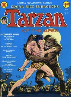 Edgar Rice Burroughs' Tarzan of the Apes, DC Comics Limited Collectors' Edition. Cover by Joe Kubert.  #Tarzan #JoeKubert