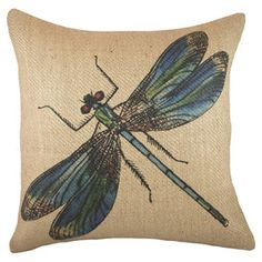 Dragonfly Pillow II
