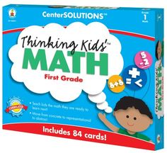 CARSONDELLOSA PUBLISHING 140077 Centersolutions Thinking Kids Math Cards Grade 1 Level *** Find out more about the great product at the image link. Note:It is Affiliate Link to Amazon.