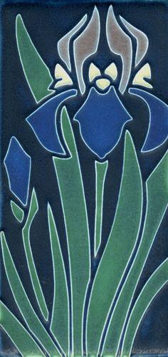 4x8 Iris in Indigo by Motawi Tileworks in Ann Arbor. http://visitannarbor.org