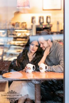 Cafe Engagement shoot couples, photo, love, coffee, hot chocolate, warm, winter, classic  BOOK Your Wedding and Engagement Photography TODAY! www.capturedmomentsmedia.ca