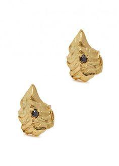 Arrow 18kt gold stud earrings