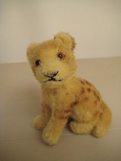 In my #ETSY Shop: #Steiff Vintage Rare Young Lion – Jungloewe – Wool Plush – 1950 to 1954 Only