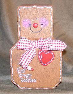 Cute Gingerbread Man paver craft!
