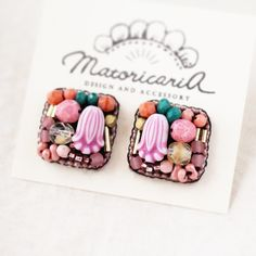 Bead Embroidery Jewelry, Fabric Jewelry, Beaded Embroidery, Beaded Jewelry, Handmade Beads, Handmade Jewelry, Diy Accessories, Bead Earrings, Diy And Crafts