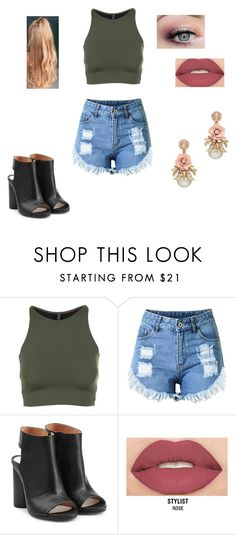 """Untitled #351"" by pufferfishgal on Polyvore featuring Onzie, Maison Margiela and Smashbox"