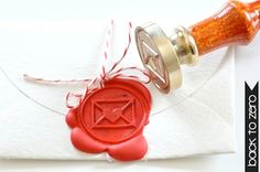 Love Letter Gold Plated Wax Seal Stamp x 1