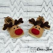 Reindeer Booties - Child Sizes - via @Craftsy